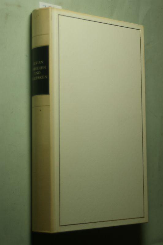 Lukian: Parodien und Burlesken, Mit Abb., Auf Grund der Wielandschen Übertragung, Hg. Emil Ermatinger & Karl Hoenn,