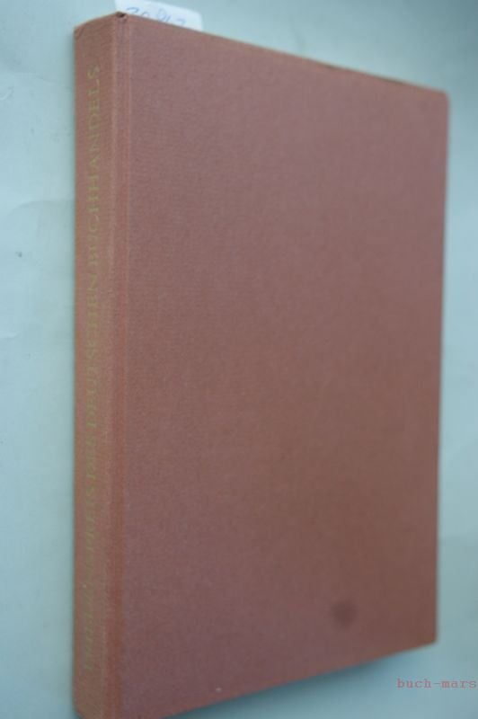 Friedenspreis des Deutschen Buchhandels. Reden und Würdigungen 1951-1960.