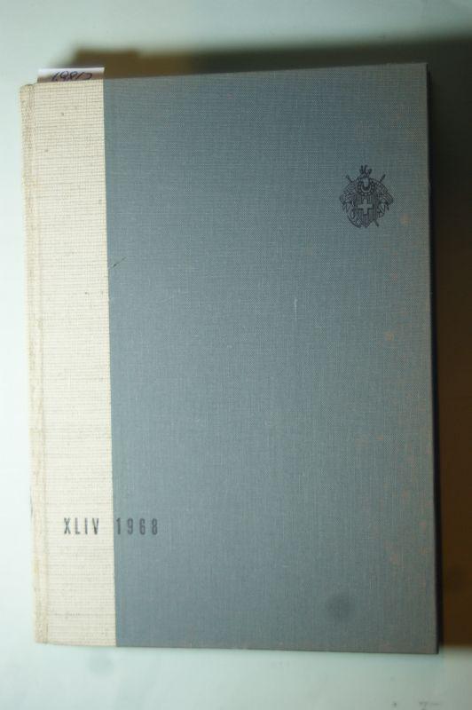 Schweizer-Alpen-Club: XLIV-1968. Die Alpen - Les Alpes - Le Alpi - Las Alps. Schriftleitung Hermann Vögeli - Pierre Vaney.
