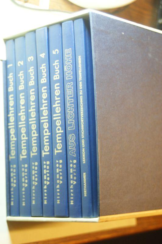 (Blavatsky, H.P.): Tempellehren Buch 1-5; Kleines okkultes Lexikon und Stichwortverzeichnis zu den Tempellehren. Aus lichter Höhe (230 Tempelbotschaften).