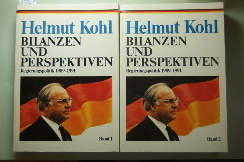 Kohl, Helmut: Bilanzen und Perspektiven Regierungspolitik 1989-1991, Band 1 und 2,