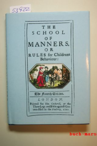 Albert Museum, Victoria: The School of Manners or Rules for Childrens Behaviour.
