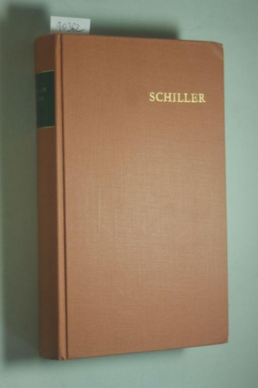 Friedrich Schiller, Arthur Kutscher und Alfred Brandstetter: Schiller. Werke in 6 Bänden. Band 1.. Gedichte.