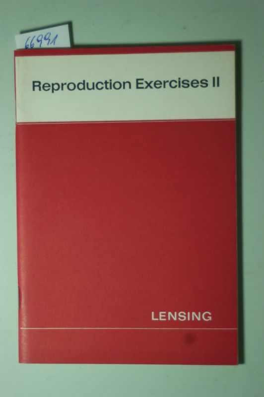 Leonhardi R. (Hrsg.) and R. Arendt: Reproduction Exercises II
