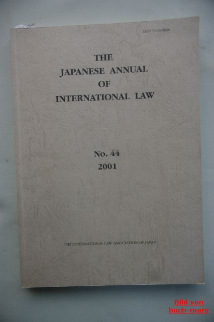Law: The Japanese annual of international law. No. 44