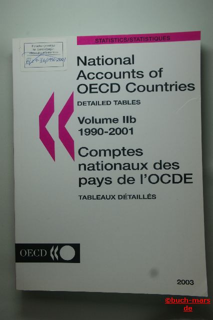 OECD Statistics: National Accounts of OECD Countries. Detailed Tables. Volume IIa and Volume IIb 1990-2001.