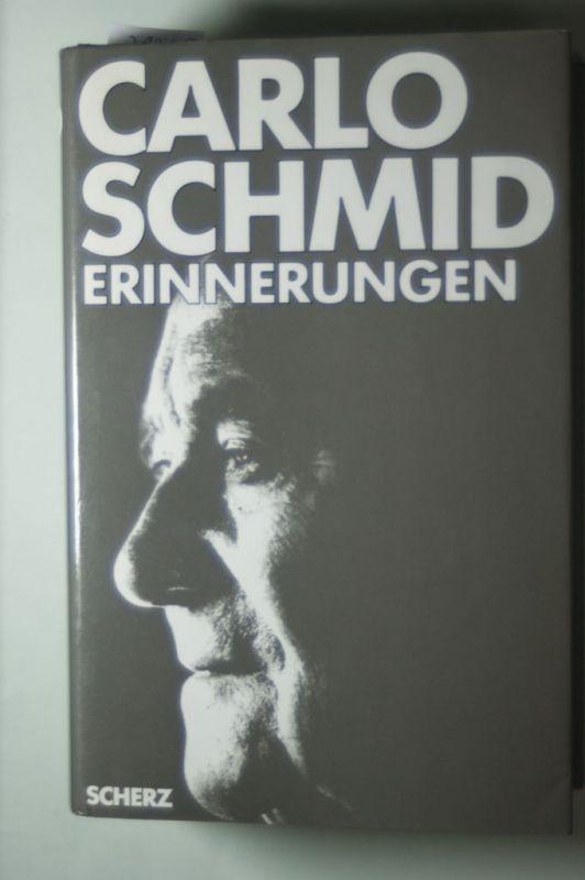 Carlo, Schmid: Carlo Schmid: Erinnerungen