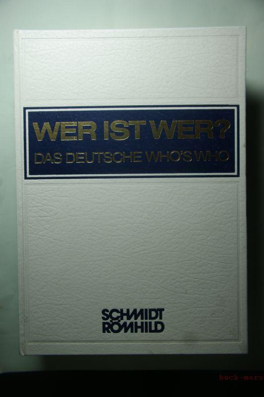 Habel, Walter: Wer ist Wer? - Das Deutsche Who`s Who. 26. Ausgabe 1987/88