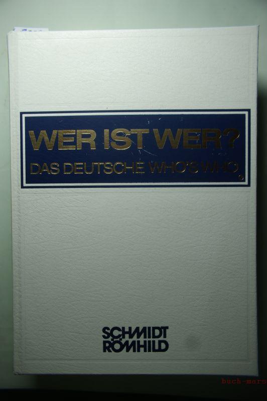 Wer ist wer? 35. Ausgabe 1996/97. Das deutsche Who`s Who. Texte teils englisch und französisch
