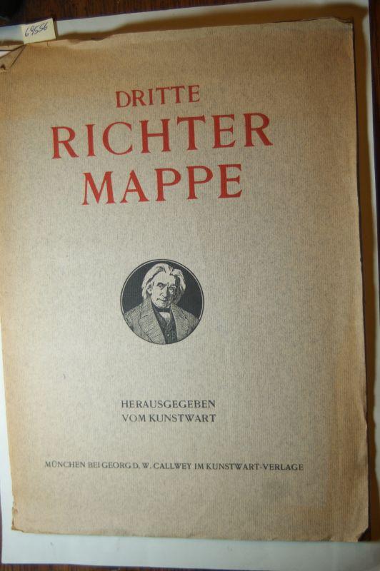 Richter, Adrian Ludwig: Dritte Richter Mappe. Hrsg. vom Kunstwart. Textbl. und 6 Vervielfältigungen