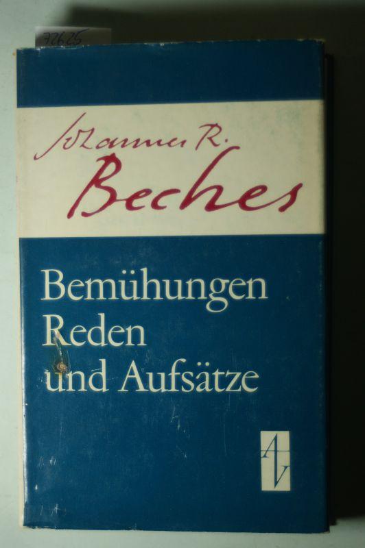 Becher, Johannes R.: Bemühungen, Reden und Aufsätze 3 Johannes R. Becher. [Ausw. aus d. Bemühungen von Horst Haase]