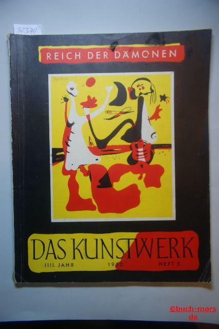 Das Kunstwerk. 4. Jahr, Heft 5, Monatschrift über alle Gebiete der bildenden Kunst. Reich der Dämonen.