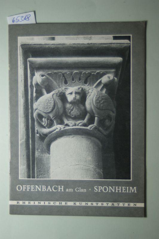 Dölling, Regine: Offenbach am Glan, Sponheim. [von], Rheinische Kunststätten ; 1973, H. 3