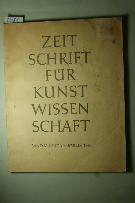 Hamann, Richard u.a.: Zeitschrift für Kunstwissenschaft, Band V Heft 3/4