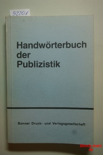 Rühmland Regina, Ullrich: Handwörterbuch der Publizistik
