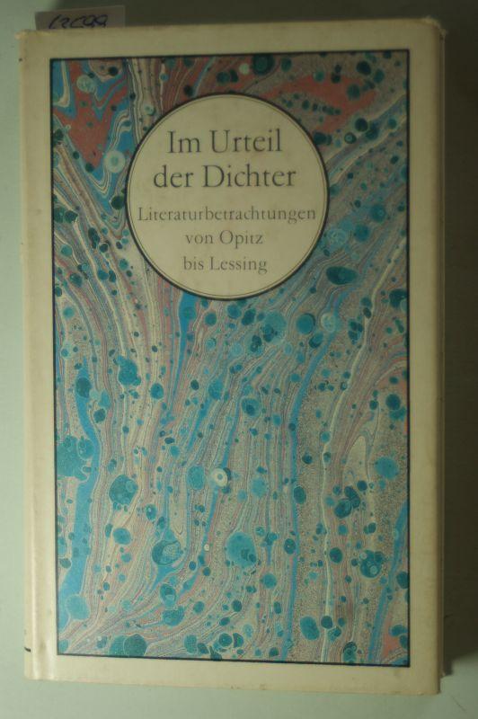 Israel, Jürgen (Hrsg.): Im Urteil der Dichter. Literaturbetrachtungen von Opitz bis Lessing