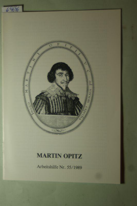Abmeier, Hans-Ludwig: Martin Opitz. [Verf.:. Hrsg.: Bund der Vertriebenen]