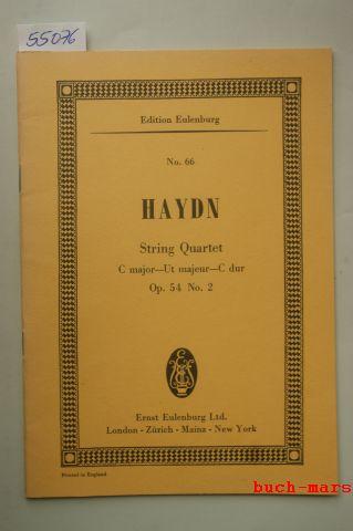 Haydn, Joseph.: String Quartet for 2 Violins, Viola & Violoncello. Op. 54. No.2. C-major - Ut majeur - C-Dur