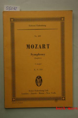 Mozart, Wolfgang Amadeus und Theodor Herausgeber Kroyer: Mozart Symphony C major-. (Jupiter) K.-V. No.551