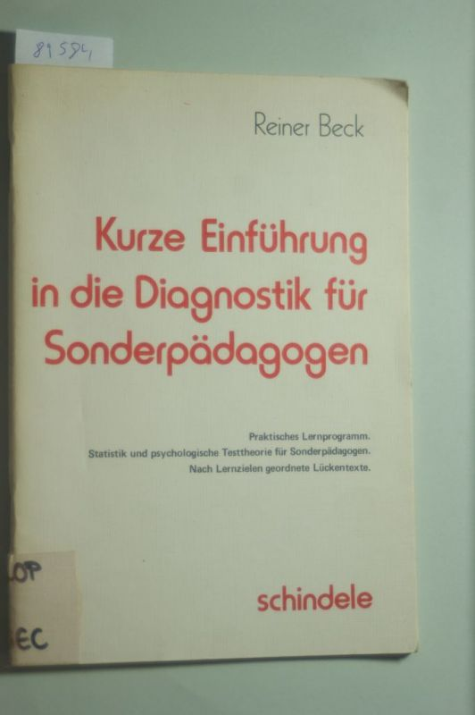 einfuhrung in die sonderpadagogische diagnostik