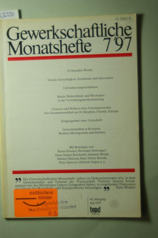 DGB: Gewerkschaftliche Monatshefte 7/97