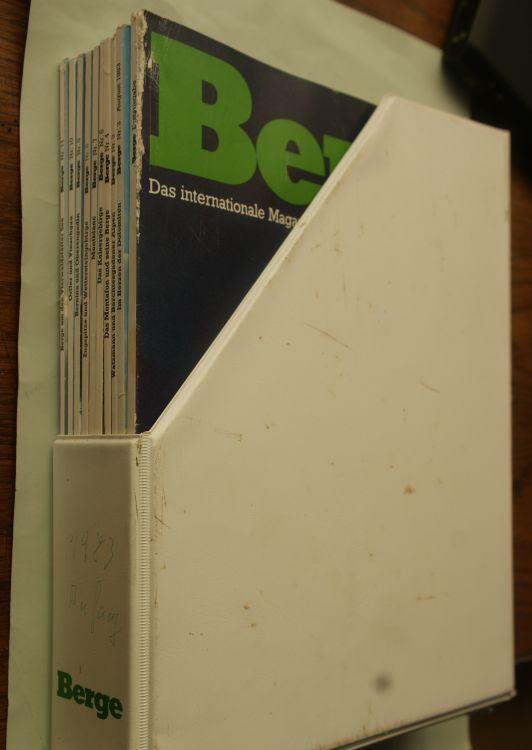 Meyer, Peter (Hg.): Berge Nr. 1, 2, 4, 6, 7, 8, 9, 10, 11 von 1983, im Kunststoffschuber