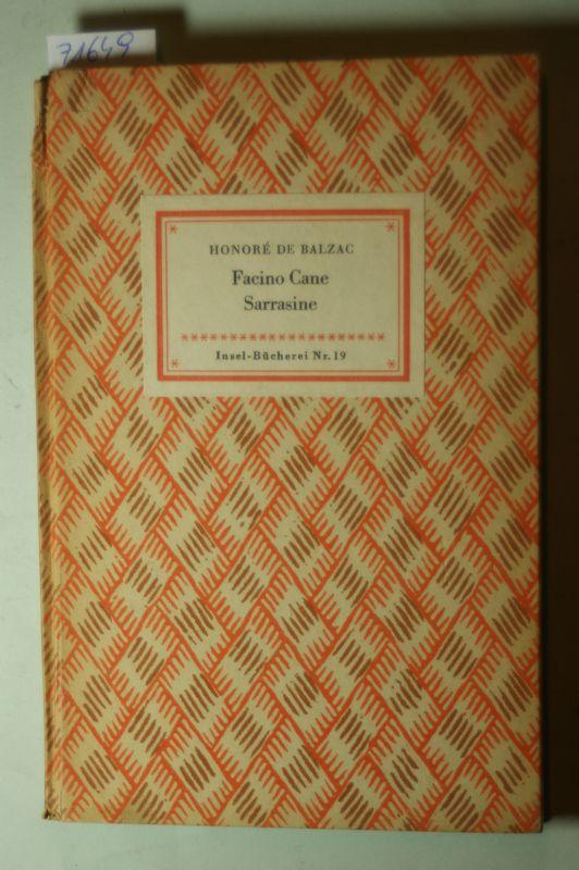 de Balzac, Honoré: Facino Cane Sarrasine IB-19