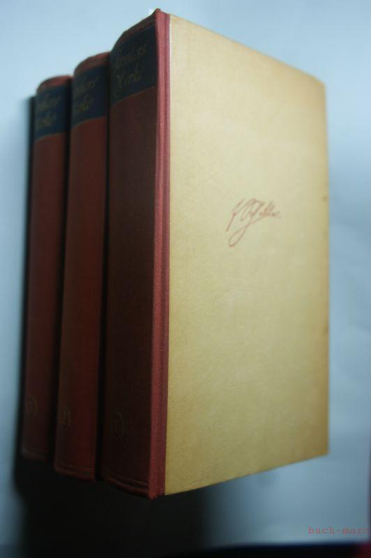 Buchwald, Reinhard (Hrgb.): Schillers Werke in drei Bänden. Band 1 - 3.