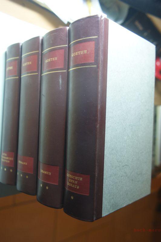 Johann Wolfgang Goethe: Gesammelte Werke in vier Bänden. Erster Band: Gedicht - Epen - Essays; Zweiter Band: Dramen; Dritter Band: Romane; Vierter Band: Autobiographische Schriften