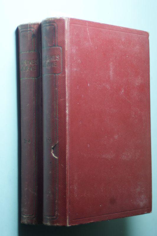 Mörike, Eduard und August Leffson (Hrsg.): Mörikes Werke in vier Teilen( in zwei Bänden). Bongs Goldene Klassiker-Bibliothek