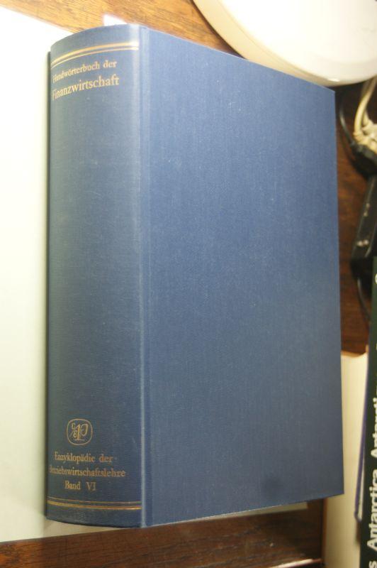 Büschgen: Enzyklopädie der Betriebswirtschaftslehre, Band 6: Handwörterbuch der Finanzwirtschaft
