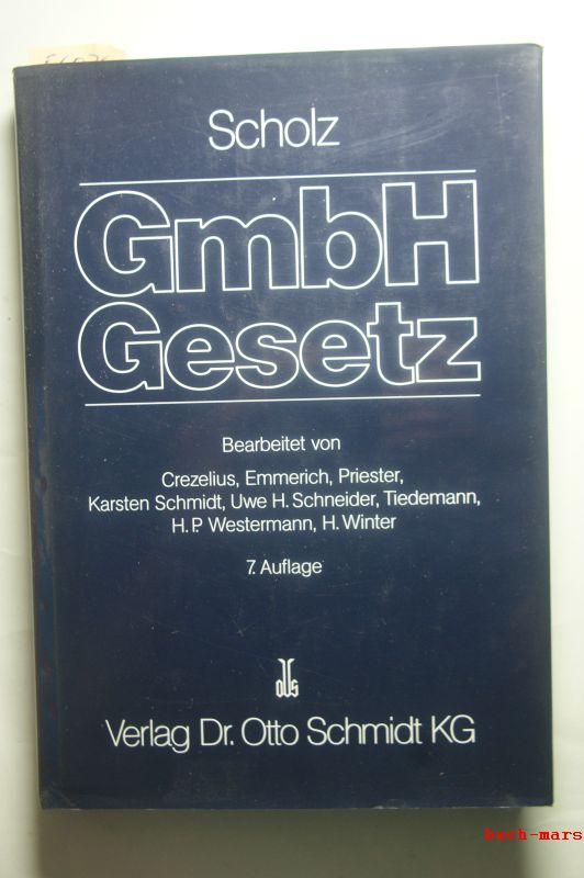 Otto, Scholz: Kommentar zum GmbH-Gesetz. Mit Neb engesetzen und den Anhängen Konzernrecht sowie Umwandlung und Verschmelzung. Sachregister