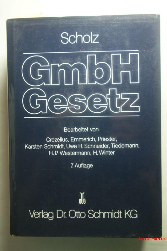 , Scholz: Kommentar zum GmbH-Gesetz.Mit Nebengesetzen und den Anhängen Konzernrecht sowie Umwandlung und Verschmelzung.II. Band. $$ 41 - 85.