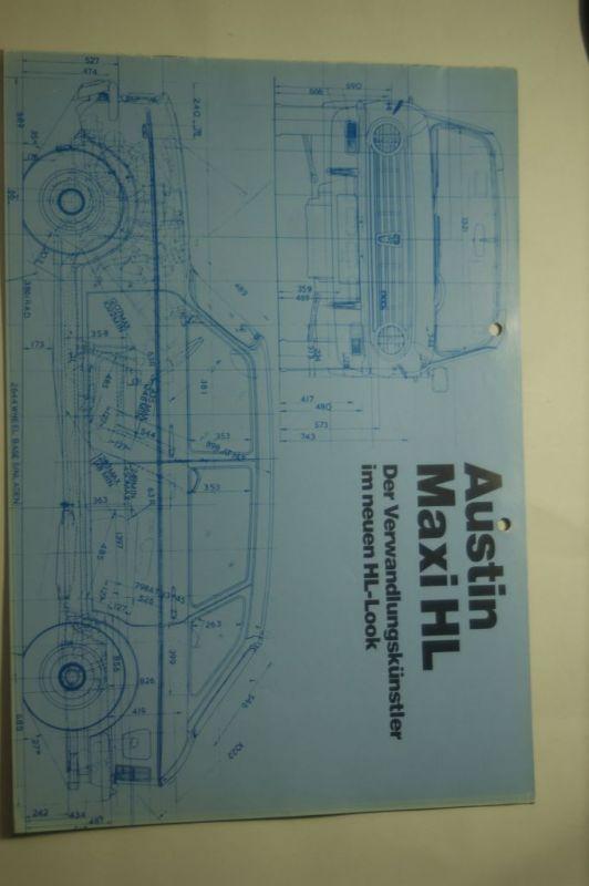 Austin: 8 Seiten Prospekt Austin Maxi HL 11/1976