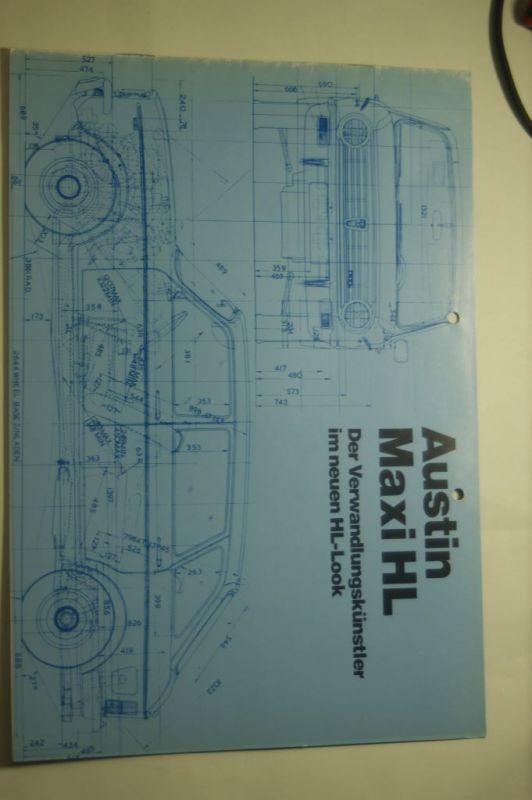 Austin: 8 Seiten Prospekt Austin Maxi HL 1976