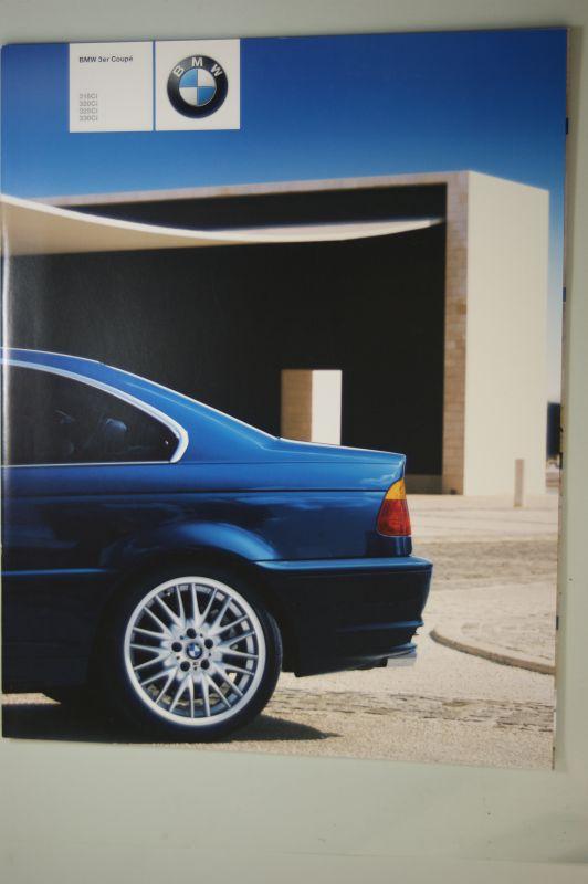 BMW: BMW 3er Coupé. 318ci, 320ci, 325ci, 330ci. 8 Seiten Prospekt 2000