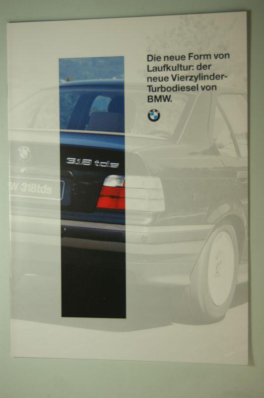BMW: BMW Die neue Form der Laufkultur: der neue Vierzylinder-Turbodiesel von BMW. Prospekt 1994
