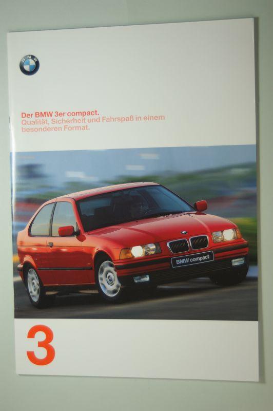BMW: Der BMW 323ti compact. Qualität, Sicherheit und Fahrspaß in einem besonderen Format. .8 Seiten Prospekt 1997 Vitalität, Kraft und Ausstrahlung. Prospekt 1997