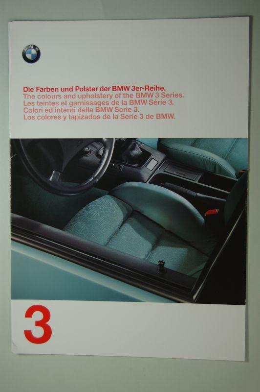 BMW: Die Farben und Polster der BMW 3er Reihe. Faltblatt1997
