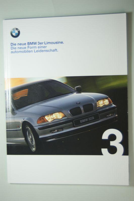 BMW: Die neue BMW 3er Limousine. Die neue Form einer automobilen Leidenschft. Prospekt 2/98