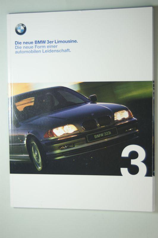 BMW: Die neue BMW 3er Limousine. Die neue Form einer automobilen Leidenschft. Prospekt 1/98