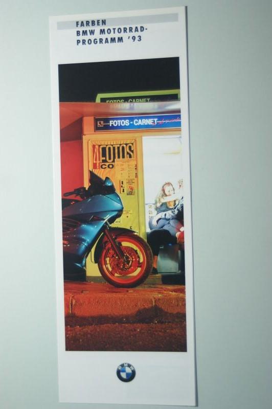 BMW: Faltblatt Farben BWM Motorrad Programm 93