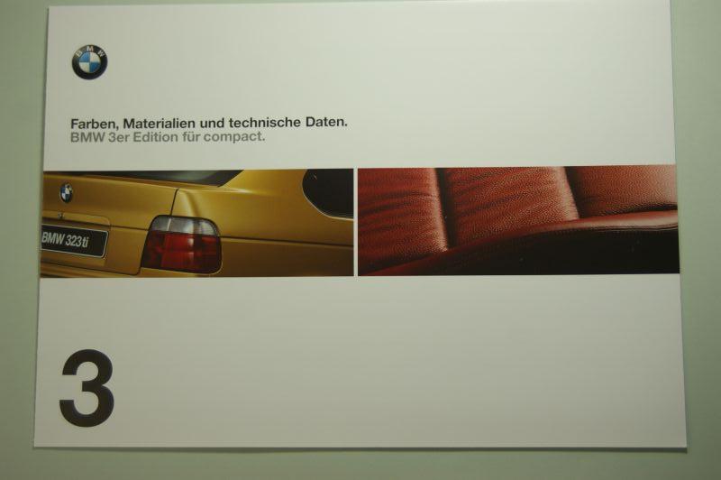 BMW: Faltblatt Farben, Materialien und technische Daten BMW 3er compact 1998