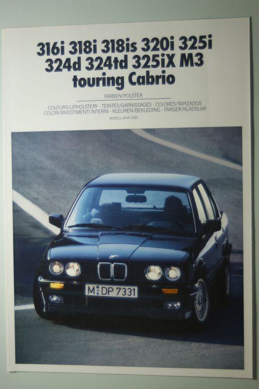 BMW: Farben und Polster BMW 316i bis M3 touring Cabrio 1989