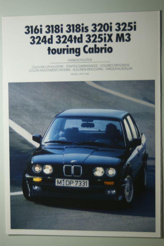 BMW: Farben und Polster BMW 316i bis M3 touring Cabrio 1990