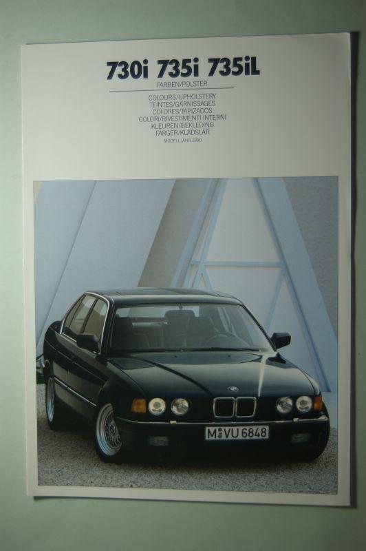 BMW: Farben und Polster BMW 730i 735i 735iL 01/1990