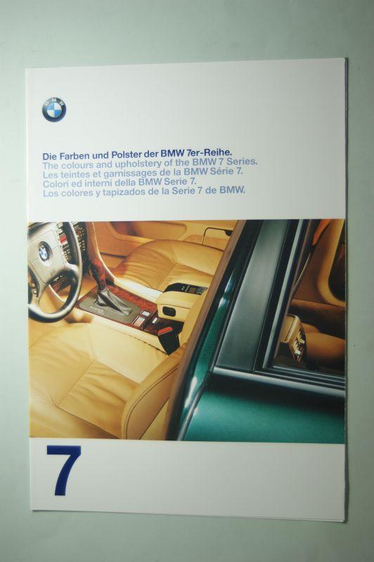 BMW: Farben und Polster für die BMW 7er-Reihe 1997