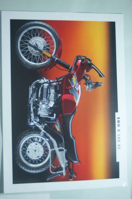 BMW: Infoblatt/Miniposter BMW R 100 GS aus den 1990igern