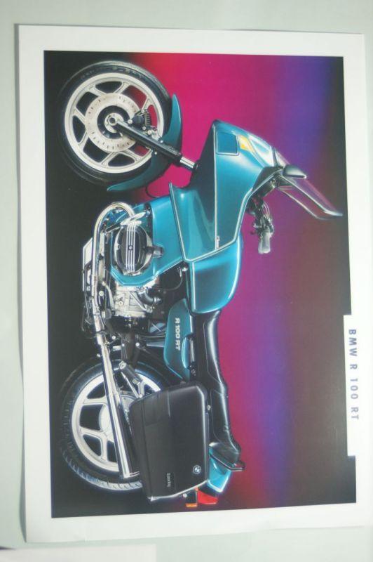 BMW: Infoblatt/Miniposter BMW R 100 RT aus den 1990igern
