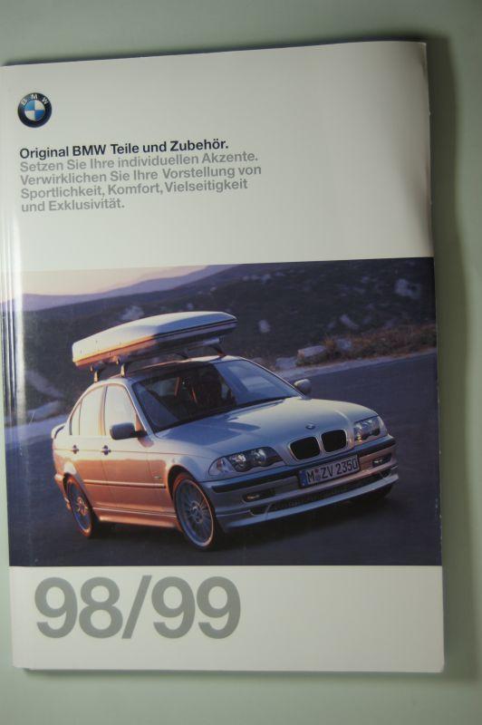 BMW: Original BMW Teile und Zubehör 125 Seiten Katalog 1998/99 mit Preisliste.